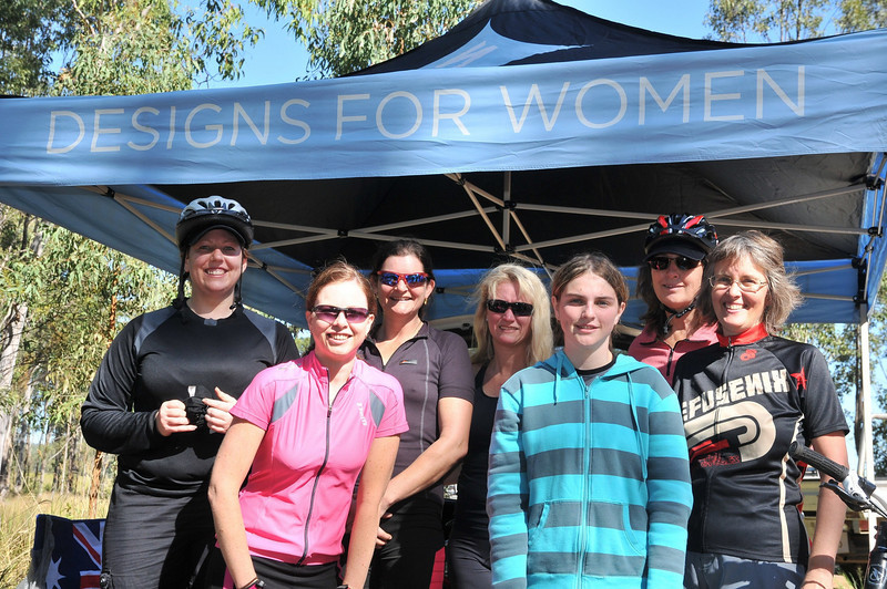 Left to right: Nadene, Laura, Toni,<br /> Tristan, Maddy, Jane, Sue