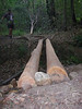 logs in place, levelled awaiting decking