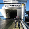 Loading on to the Interislander - Wellington to Picton