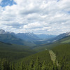 Looking from Skogan Pass up the Bow Valley towards Canmore