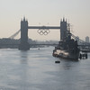 Walking across the Thames to meet up at Fenchurch St