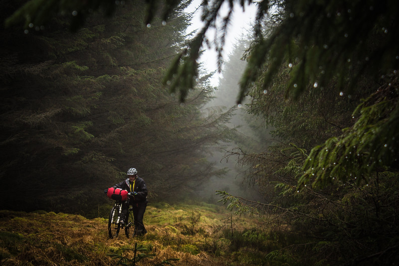 Bike packing in the mist of Mid Wales