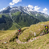 Switchback fun in the Alps.