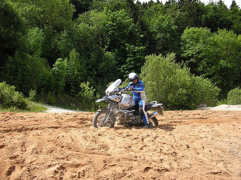 Our instructor Manfred diggin' in his bike (2)