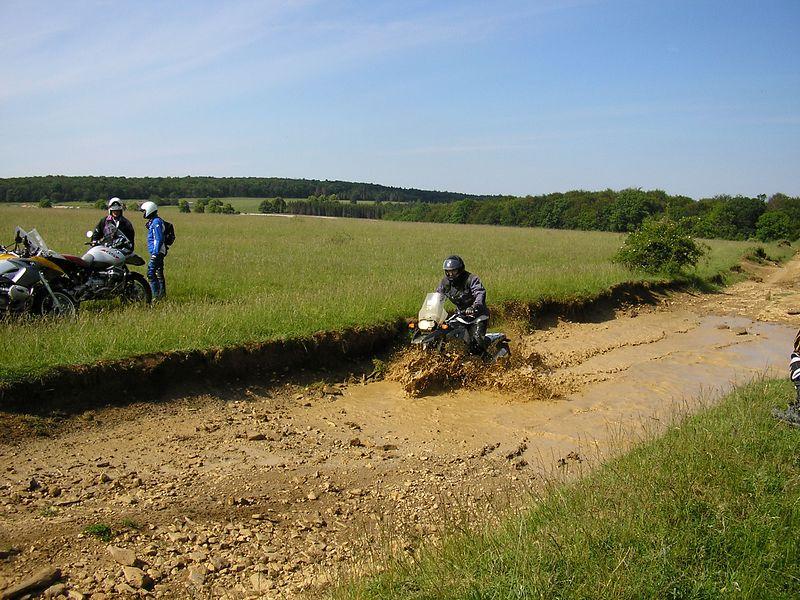 Henri doing the tank track