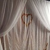White Sheer with Gold / White Mermaid Curtain