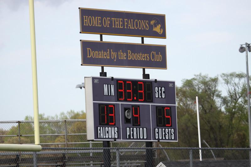 New Turf Field Scoreboard