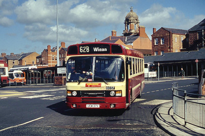 MTL 6037 Wigan Bus Stn Mar 94