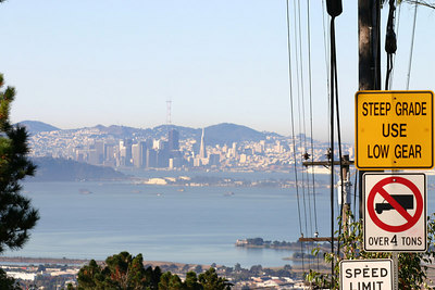 From atop Berkeley's steepest hill....  20 MPH !