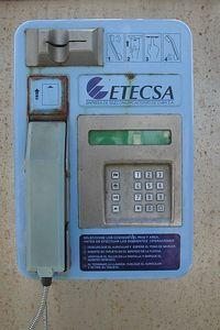 Statues, Images and Impressions from Cuba - Cuban Telephone - Telefono Etecsa de Cuba