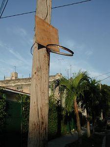 Basketball Court,Cuban Style - Cancha de Baloncesto, Estilio Cubano.