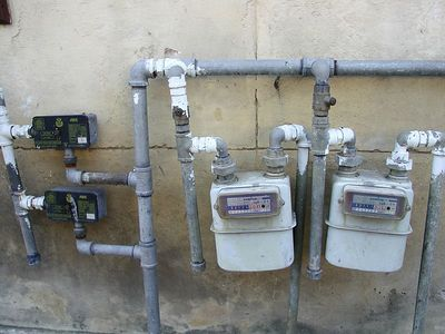 """Gas Meter en Cuba""  Most homes have only gas bottles but this was an actual gas meter for a government owned business."