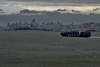 Shipping coming into the Port of  San Francisco