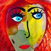 Murano Glass Art Face  sculpture in Venice