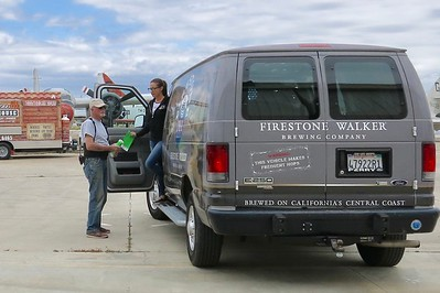 One of the most important vendors (and a huge sponsor of the event) has arrived.  Firestone - Walker has been a wonderful museum supporter over the years!