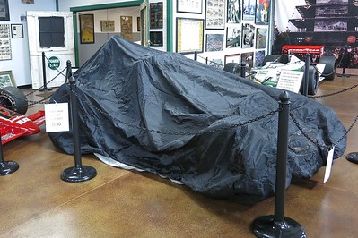The mystery car awaits in the Woodland Auto Display for its unveiling at WWW9 on Saturday