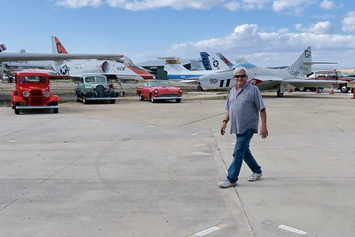 Howard Love is on hand and already positioning some of the 200+ show cars for tomorrow