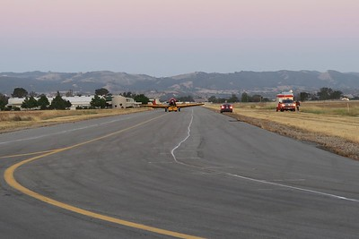 Scott moving aircraft to block off taxiway F's west end