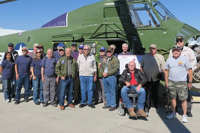 The Estrella Warbirds Museum crew members who worked on this restoration joined in for this photo