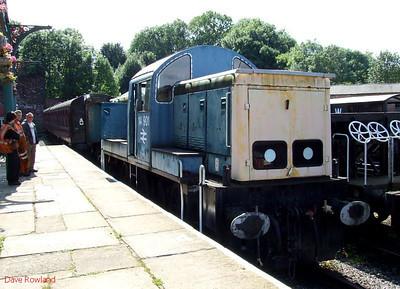 BR class 14 'Teddy Bear' 14901 (D9524) at Elsecar on 16th August 2009.