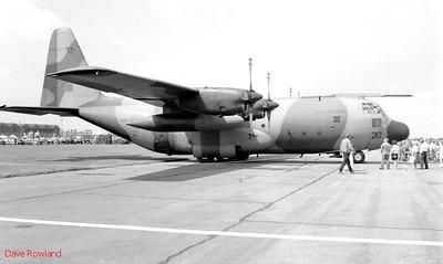 RAF Hercules Transport, Royal Navy Airshow, Lee-on-Solent July 1990.