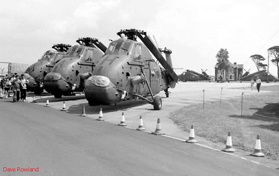 Westland helicopters, Royal Navy Airshow, Lee-on-Solent July 1990.