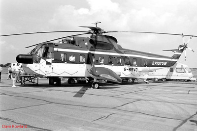 Bristow Sea King helicopter G-BSVO, Royal Navy Airshow, Lee-on-Solent July 1990.