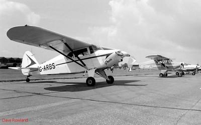 "G-ARBS ""Greta"", Royal Navy Airshow, Lee-on-Solent July 1990."