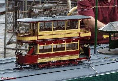 Working scale model of a Rawtenstall tram at the Manchester Museum of Science & Industry. 15th August 2009.