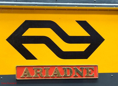 "NS logo & nameplate of NS 1505 ""Ariadne"". Manchester Museum of Science & Industry. 15th August 2009."