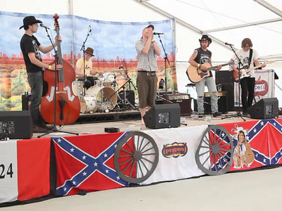 Stagecoach performed by CC Smugglers at the Rockfield Country Music Festival