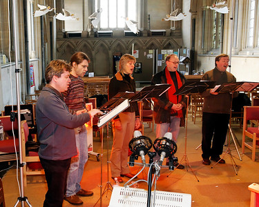 Gothic Voices recording session, Toddington Church