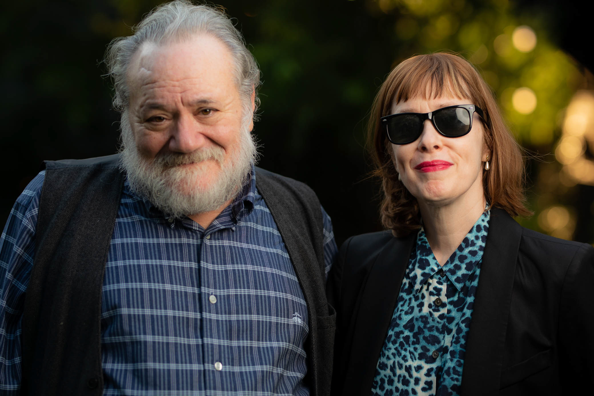 Louis Black and Suzanne Vega