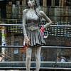Amy Winehouse statue in Camden market.
