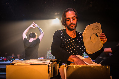 Ricardo Villalobos digging through records