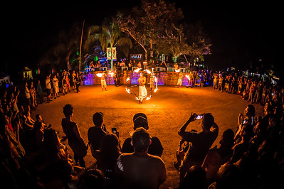 Fire dancing in the jungle at The BPM Music Festival