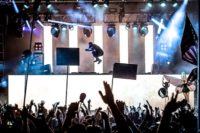 Zomboy getting some serious air