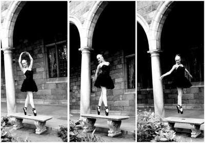 Emily Pobuda Collage 8X12 DANCE B&W