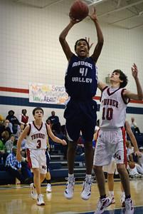 MV Boys JV Basketball at Monclova Christian, 6-Dec-2011 Filename: TOP_8599