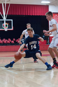 MV Hawks 2013-2014 JV Boys Basketball, at Stritch, 2013-12-06