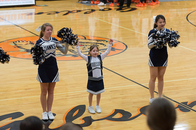 MV Hawks 2013-2014 JV Cheerleaders, at Gibsonsburg, 2014-02-21
