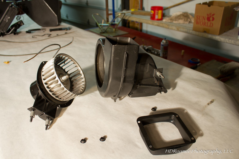 Another view of the fan motor and housing. Once again I didn't have to hunt down any parts.