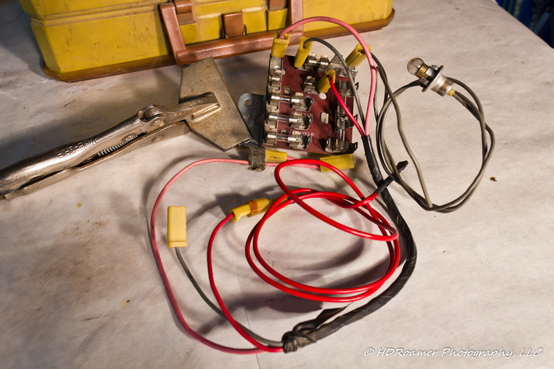 Fuse panel and wire harness as I received it.