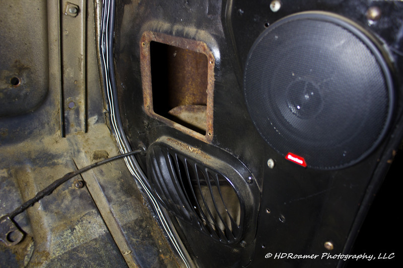 Fresh air vent cover removed and ready to receive the vent flange.
