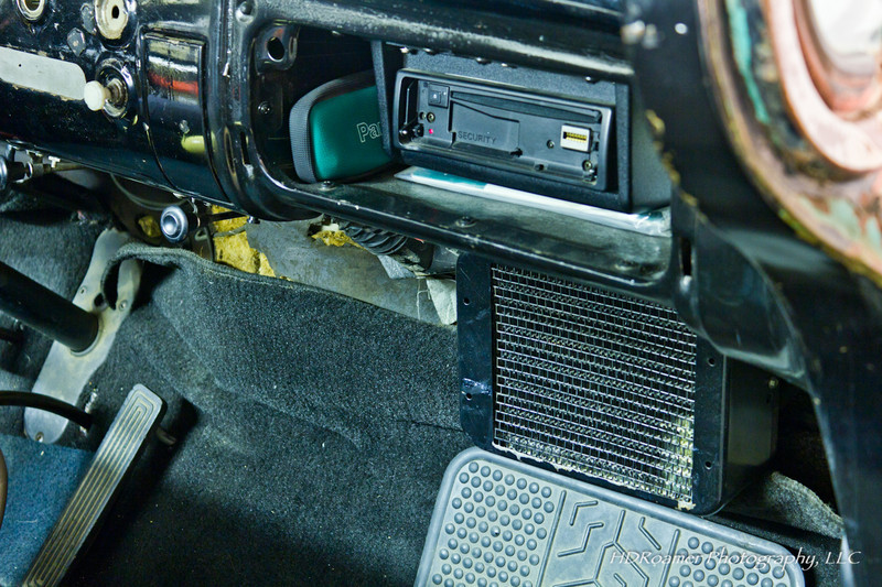 Another dash view. CD player/radio installed in glove box. It is hooked up to a CD changer too.