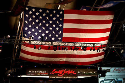 United States of America Flag Over the 2011 Barrett-Jackson Auction Stage