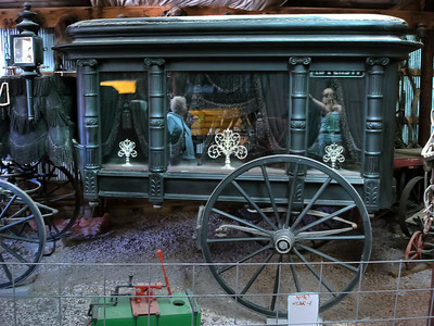 1890 Hearse complete with ghostly aberrations. Those are not edited in, I promise. Don't know the maker of this hearse... but I bet a few folks have met him. Doh..