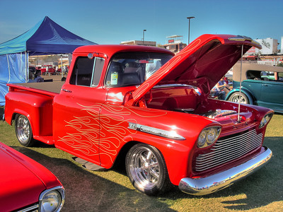 58 Chevy Apache. I know the badge on the fender is off a '59... who cares the truck is awesome. I have a '59 and some day it might look as good as this.