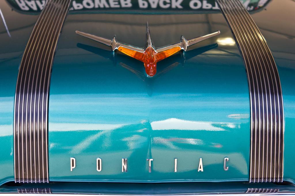 1955 Pontiac Safari Wagon Hood Emblem