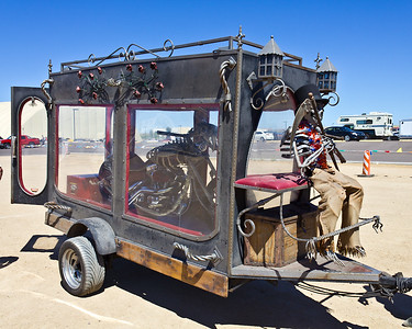 Bare Bonz Choppers - Custom hand forged chopper and hearse made by Vaughn & Lori Shafer. The Shafer's have a custom ornamental iron business near El Jebel, CO.